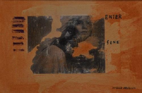 Mujer, 19x13 acrílico sobre papel ,2020